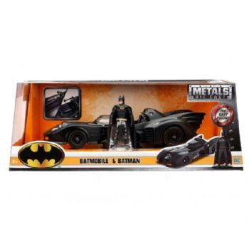 Batman 1989 Movie Batmobile 1:24 Scale Diecast With Figure